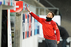 04.03.2014, AFG Arena, St. Gallen, SUI, Training der Schweizer Nationalmannschaft, vor dem Testspiel gegen Kroatien, im Bild Haris Seferovic (SUI) // during a practice session of swiss national football team prior to the international frindley against Croatia at the AFG Arena in St. Gallen, Switzerland on 2014/03/04. EXPA Pictures © 2014, PhotoCredit: EXPA/ Freshfocus/ Andy Mueller<br /> <br /> *****ATTENTION - for AUT, SLO, CRO, SRB, BIH, MAZ only*****