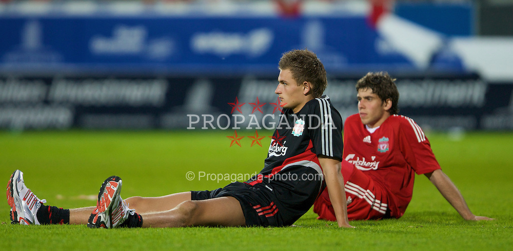 GRENCHEN, SWITZERLAND - Wednesday, July 16, 2008: Liverpool's goalkeeper Martin Hansen after a pre-season friendly at Stadion Bruhl. (Photo by David Rawcliffe/Propaganda)