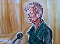 Court Drawings from Wikileak's Founder Julian Assange hearing at Belmarsh Court 7th Feb
