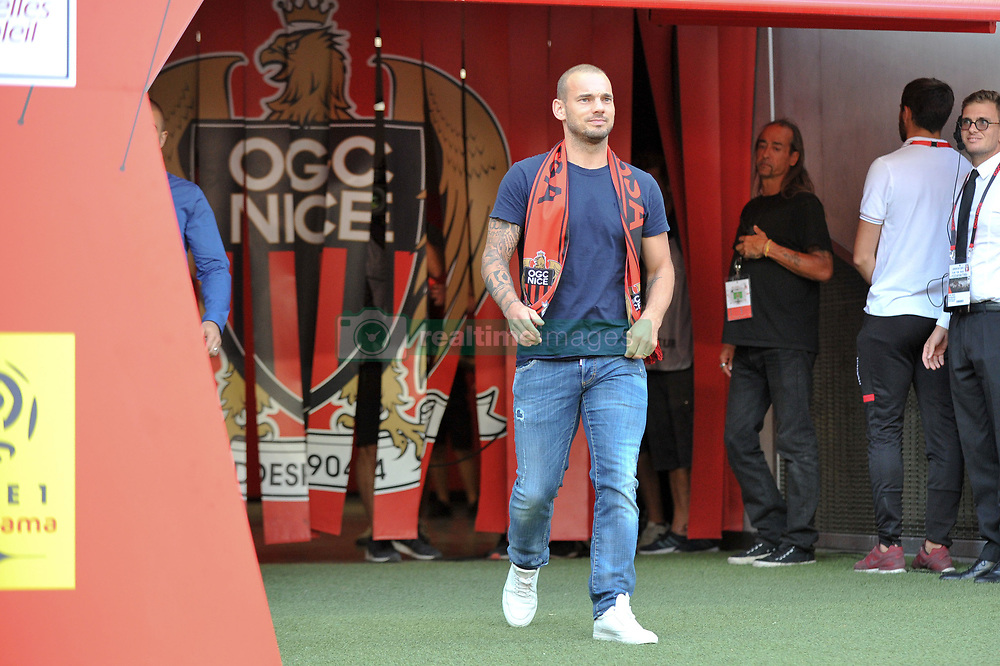 August 11, 2017 - Nice, France - PRESENTATION DE Wesley Sneijder (Credit Image: © Panoramic via ZUMA Press)