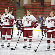 The Harvard Crimson women's ice hockey team plays against Union College at The Bright-Landry Hockey Center on November 1, 2014 in Boston, Massachusetts. (Photo by Elan Kawesch/Harvard University)