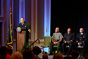 Chief Powers addresses the crowd.