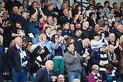 Dundee fans applaud after Colin Nish had put their team ahead - Dundee v Motherwell, Clydesdale Bank Scottish Premier League at Dens Park.. - © David Young - 5 Foundry Place - Monifieth - DD5 4BB - Telephone 07765 252616 - email: davidyoungphoto@gmail.com - web: www.davidyoungphoto.co.uk