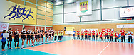 Special Olympics Serbia's Team during of The Special Olympics Unified Volleyball Tournament at Ursynow Arena in Warsaw on August 27, 2014.<br /> <br /> Poland, Warsaw, August 27, 2014<br /> <br /> For editorial use only. Any commercial or promotional use requires permission.<br /> <br /> Mandatory credit:<br /> Photo by © Adam Nurkiewicz / Mediasport