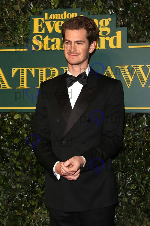 Andrew Garfield, London Evening Standard Theatre Awards, Theatre Royal Drury Lane, London UK, 03 December 2017, Photo by Richard Goldschmidt