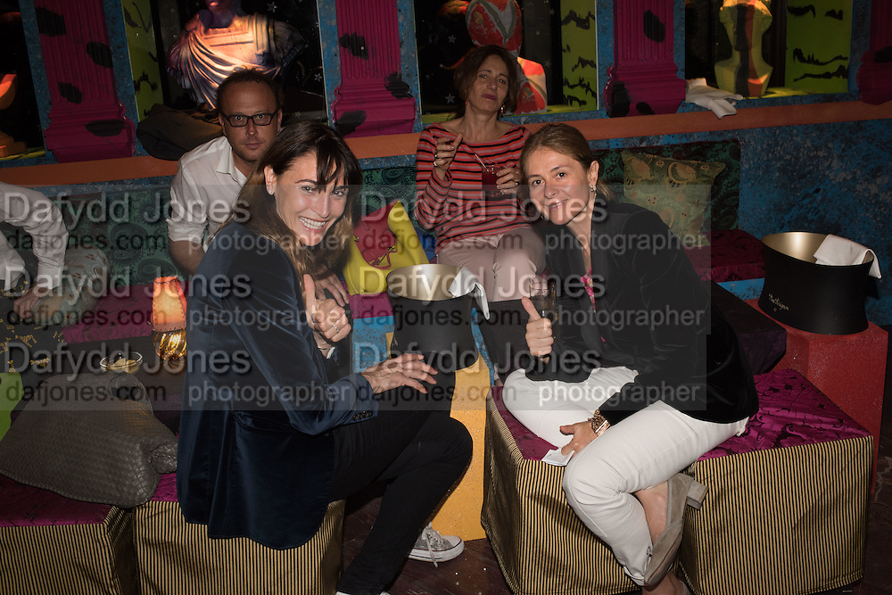 VERONICA GAIDO; FABBRATIAN MORES;, Gazelli host The Colbert Art Party last night at  LouLou's, The Bauer in Venice, Venice Biennale, Venice. 7 May 2015