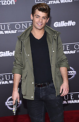 Celebrities arrive at the 'Rogue One: A Star Wars Story' movie premiere in Hollywood, California. 10 Dec 2016 Pictured: Garrett Clayton. Photo credit: American Foto Features / MEGA TheMegaAgency.com +1 888 505 6342