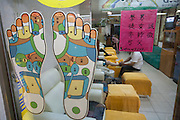 A foot massage parlor in Taipei, Taiwan.