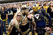 November 3, 2012:  CU students dress up to cheer for the Buffalos during the NCAA Football game between the Stanford Cardinal and the University of Colorado Buffalos at Folsom Field in Boulder, CO