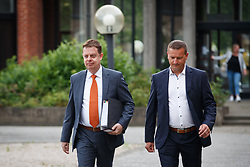 June 12, 2017 - Brugge, BELGIUM - Koen Wittouck and David Roelant pictured ahead of a session of in the 'Kasteelmoord' (Castle murder) trial, Monday 12 June 2017, at the Brugge correctionnal court. Andre Gyselbrecht, Pierre Serry, Franciscus Larmit and Evert de Clercq are the four accused in the so-called 'castle murder' (kasteelmoord) on Stijn Saelens, at his home, a castle in Wingene, West-Flanders province. On 31 January 2012 Saelens mysteriously disappeared from his castle. His body was found in February 2012 on a nearby property. Saelens was Andre Gyselbrecht's son-in-law. BELGA PHOTO KURT DESPLENTER (Credit Image: © Kurt Desplenter/Belga via ZUMA Press)