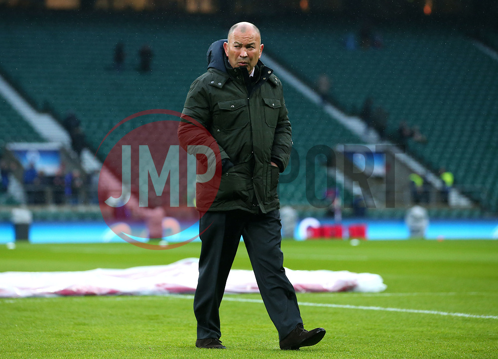 England head coach Eddie Jones - Mandatory by-line: Robbie Stephenson/JMP - 10/02/2018 - RUGBY - Twickenham Stoop - London, England - England v Wales - Women's Six Nations