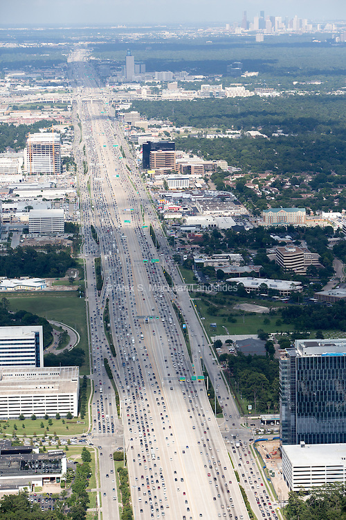 Highway and parallel roads make up 24 lanes of traffic.