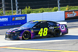 March 23, 2019 - Martinsville, VA, U.S. - MARTINSVILLE, VA - MARCH 23:  #48: Jimmie Johnson, Hendrick Motorsports, Chevrolet Camaro Ally during practice for the STP 500 Monster Energy NASCAR Cup Series race on March 23, 2019 at the Martinsville Speedway in Martinsville, VA.  (Photo by David J. Griffin/Icon Sportswire) (Credit Image: © David J. Griffin/Icon SMI via ZUMA Press)