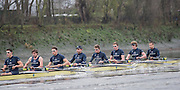 London, Great Britain, Oxford, lPleasure. passing Chiswick Eyot, during the  BNY Mellon, 2016 University Men's Boat Race, Putney to Mortlake. ENGLAND. <br /> <br /> Sunday 13.12.2015<br /> <br /> [Mandatory Credit; Peter Spurrier/Intersport-images]