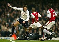 Photograph: Scott Heavey.<br />Arsenal v Tottenham Hotspur. FA Barclaycard Premiership. 08/11/2003.<br />Darren Anderton celebrates Tottenham's opener