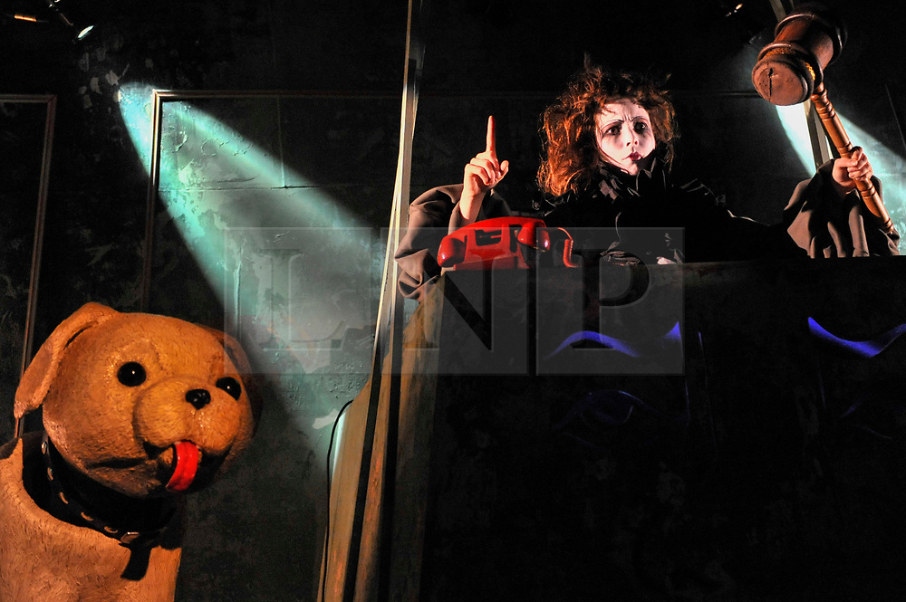 """© Licensed to London News Pictures. 15/11/2017. London, UK.  Preview of """"Inside Pussy Riot"""", an immersive theatrical punk production inspired by the activities of the Russian feminist art collective.  The show is part of the Art Riot exhibition at the Saatchi Gallery in association with Tsukanov Family Foundation, Les Enfants Terribles and Pussy Riot co-founder Nadya Tolokonnikova, and runs until 24 December.  Photo credit: Stephen Chung/LNP"""
