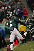 16 Jan 2005: David Akers of the Philadelphia Eagles during the Philadelphia Eagles 27-14 victory over the Minnesota Vikings at Lincoln Financial Field in Philadelphia, PA. <br /> <br /> Mandatory Credit:Todd Bauders/ContrastPhotography.com