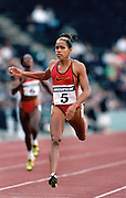 Cathy Freeman Barcelona Olympics qualifiers in London 1992 ©Jayne Russell Australian Aboriginal athlete Cathy Freeman  during Barcelona Olympics qualifiers in London 1992.