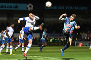 Tranmere Rovers defender Jake Caprice (14) on defensive duties during the The FA Cup match between Wycombe Wanderers and Tranmere Rovers at Adams Park, High Wycombe, England on 20 November 2019.