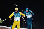 PYEONGCHANG-GUN, SOUTH KOREA - FEBRUARY 12: Fredrik Lindstroem of Sweden during the Mens Biathlon 12.5km Pursuit at Alpensia Biathlon Centre on February 12, 2018 in Pyeongchang-gun, South Korea. Photo by Nils Petter Nilsson/Ombrello               ***BETALBILD***