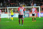 Exeter City's Clinton Morrison during the Sky Bet League 2 match between Exeter City and Dagenham and Redbridge at St James' Park, Exeter, England on 2 January 2016. Photo by Graham Hunt.