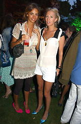 Left to right, ROSE HANBURY and the HON.SOPHIA HESKETH at the Quintessentially Summer Party held at Debenham House, 8 Addison Road, London W14 on 15th June 2006.<br />
