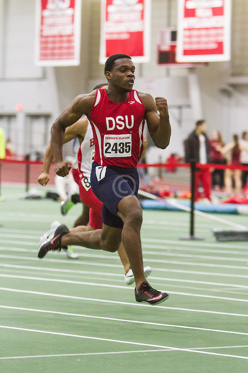 Boston University Multi-team indoor track & field, men 60 meter prelim, Delaware State, 2435
