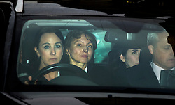 © Licensed to London News Pictures. 21/01/2016. London, UK. MARINA LITVINENKO (second left) being driven from the The High Court in London after a report into the killing of  her husband, Alexander Litvinenko was released. Alexander Litvinenko was poisoned with the radioactive isotope polonium-210  in London. Photo credit: Ben Cawthra/LNP