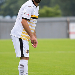 Dimitrios Froxylias sets up a free kick during the Dumbarton v Connah's Quay Nomads Irn Bru cup second round 2 September 2017<br /> <br /> <br /> <br /> <br /> (c) Andy Scott | SportPix.org.uk