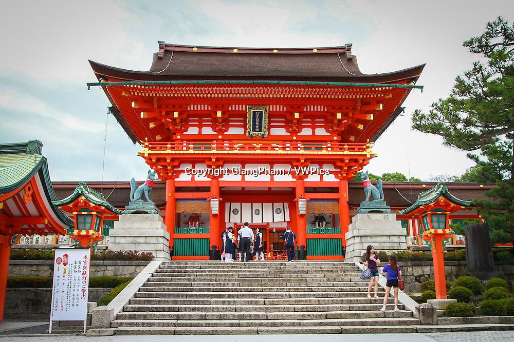 Entrance to Fushimi Inari Shrine in Kyoto Prefectures, Japan