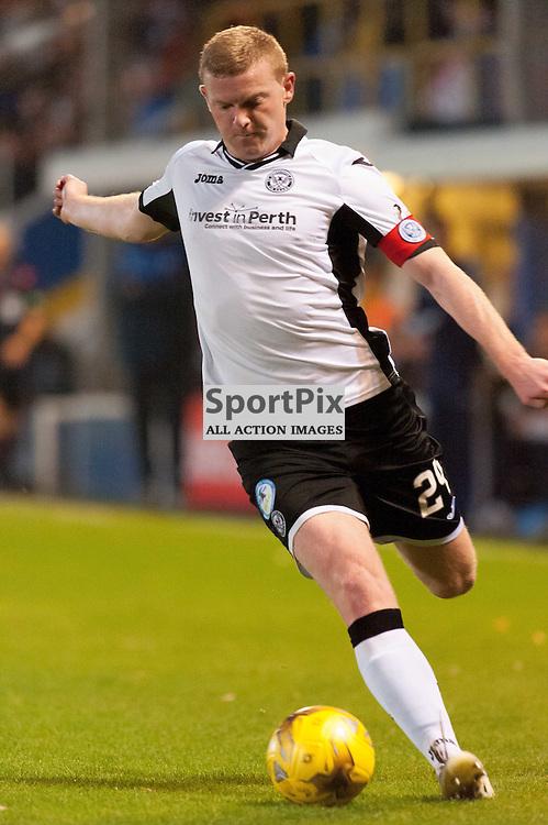 #24 Brian Easton (St Johnstone). Greenock Morton v St Johnstone, Scottish League Cup, 27 October 2015. © Russel Hutcheson | SportPix.org.uk
