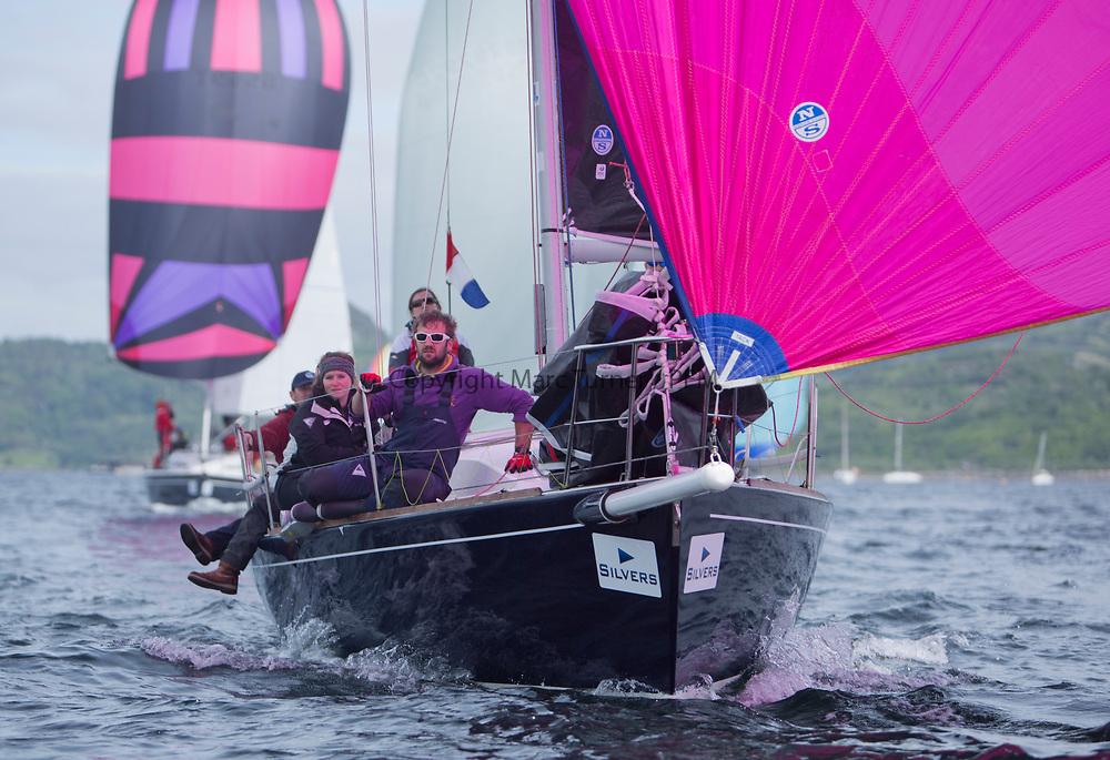 Silvers Marine Scottish Series 2017<br /> Tarbert Loch Fyne - Sailing Day 3<br /> <br /> GBR8272T, Satisfaction, Nicholas Marshall, St Mary's Loch SC, J 92