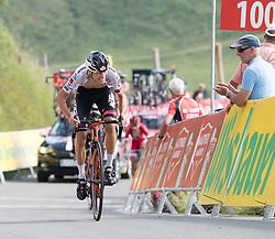 06.07.2017, Kitzbühel, AUT, Ö-Tour, Österreich Radrundfahrt 2017, 4. Etappe von Salzburg auf das Kitzbüheler Horn (82,7 km/BAK), im Bild Benjamin Brkic AUT (Tirol Cycling Team) // Benjamin Brkic of Austria (Tirol Cycling Team) during the 4th stage from Salzburg to the Kitzbueheler Horn (82,7 km/BAK) of 2017 Tour of Austria. Kitzbühel, Austria on 2017/07/06. EXPA Pictures © 2017, PhotoCredit: EXPA/ Reinhard Eisenbauer
