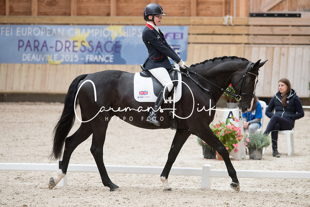 Christiansen Sophie, (GBR), Athene Lindebjerg<br /> Grade Ia Team Test<br /> Para-Dressage FEI European Championships Deauville 2015<br /> &copy; Hippo Foto - Jon Stroud<br /> 18/09/15