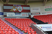 Score board Doncaster keepmoat stadium before the Sky Bet League 1 match between Doncaster Rovers and Barnsley at the Keepmoat Stadium, Doncaster, England on 3 October 2015. Photo by Ian Lyall.