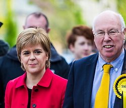 Nicola Sturgeon joins the SNP's candidate for East Lothian George Kerevan on the campaign trail in Musselburgh tomorrow. <br /> <br /> The First Minister commented that a vote for the SNP is vital to ensure that Scotland's jobs and industries are protected. An SNP victory in the General Election will give the party a mandate to demand that the Scottish Government is at the top table in Brexit negotiations, standing up for the interests of businesses and for workers rights.<br /> <br /> Pictured: Nicola Sturgeon and East Lothian candidate George Kerevan