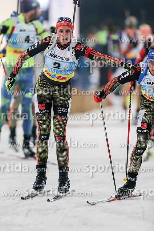 28.12.2015, Veltins Arena, Gelsenkirchen, GER, IBU Weltcup Biathlon, auf Schalke, im Bild Vanessa Hinz (Deutschland/GER) // during the IBU Biathlon World Cup at Veltins Arena in Gelsenkirchen, Germany on 2015/12/28. EXPA Pictures &copy; 2015, PhotoCredit: EXPA/ Eibner-Pressefoto/ Kohring<br /> <br /> *****ATTENTION - OUT of GER*****