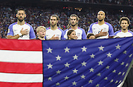 HOUSTON, TEXAS - JUNE 21: United States teammates stand for the National Anthem before the Semifinal match between Argentina and US at NRG Stadium as part of Copa America Centenario US 2016 on June 21, 2016 in Houston, Texas, US. Argentina won 4 to 0. (Photo by Thomas B. Shea/LatinContent/Getty Images)