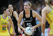 New Zealand's Casey Williams against Australia in the New World Quad series netball match, Claudelands Arena, Hamilton, New Zealand, Thursday, November 01, 2012. Credit:NINZ / Dianne Manson.