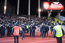 January 16, 2018 - Monaco, France - ILLUSTRATION - SUPPORTERS - INCIDENTS - SECURITE - POLICE - CRS (Credit Image: © Panoramic via ZUMA Press)