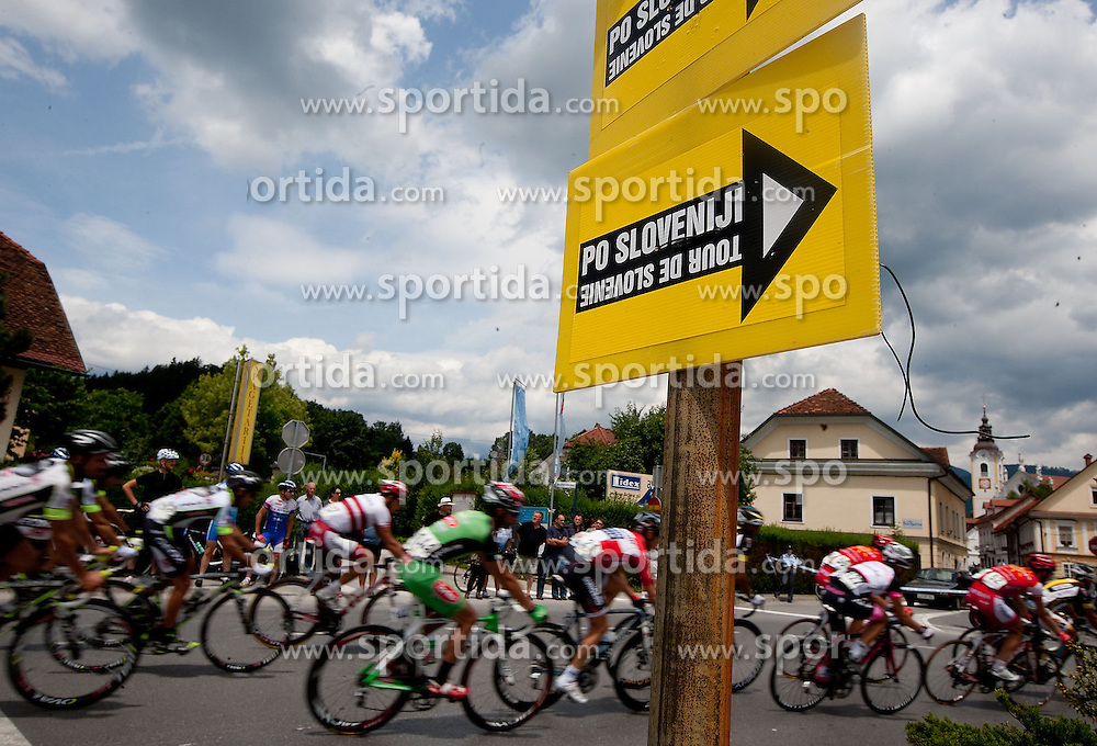 Pelotn in Kamnik during 3rd Stage Trzic - Golte (170,6 km) at 18th Tour de Slovenie 2011, on June 17, 2011, in Slovenia. (Photo by Vid Ponikvar / Sportida)