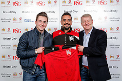 Scotty Murray of Bristol City poses during the Player Sponsors' Evening in the Sports Bar & Grill at Ashton Gate - Mandatory byline: Rogan Thomson/JMP - 11/04/2016 - FOOTBALL - Ashton Gate Stadium - Bristol, England - Bristol City Player Sponsors' Evening.