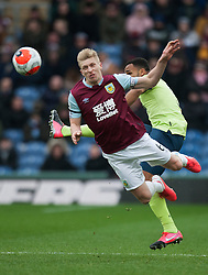 Callum Wilson of Bournemouth and Ben Mee of Burnley (L) in action - Mandatory by-line: Jack Phillips/JMP - 22/02/2020 - FOOTBALL - Turf Moor - Burnley, England - Burnley v Bournemouth - English Premier League