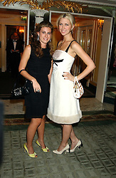 Left to right, FRANCESCA VERSACE and MARGO STILLEY at the Chain of Hope 10th Anniversary Ball held at The Dorchester, Park Lane, London on 1st November 2005.<br />