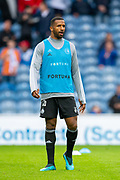 Cafu (#26) of Legia Warsaw warms up before the Europa League Play Off leg 2 of 2 match between Rangers FC and Legia Warsaw at Ibrox Stadium, Glasgow, Scotland on 29 August 2019.