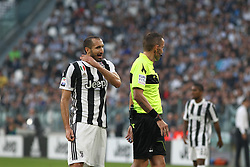 October 14, 2017 - Turin, Piedmont, Italy - Giorgio Chiellini (Juventus FC) during the Serie A football match between Juventus FC and SS Lazio at Olympic Allianz Stadium on 14 October, 2017 in Turin, Italy. (Credit Image: © Massimiliano Ferraro/NurPhoto via ZUMA Press)
