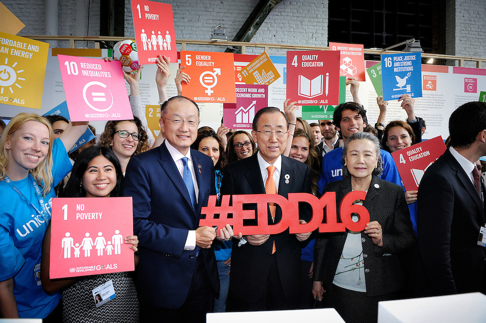 20160615 - Brussels , Belgium - 2016 June 15th - European Development Days - Ban Ki-Moon visiting the UN stand © European Union