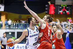 Zagorac Sasa of Slovenia during friendly basketball match between National teams of Slovenia and Hungary on day 1 of Adecco Cup 2017, on August 4th in Arena Tabor, Maribor, Slovenia. Photo by Grega Valancic/ Sportida