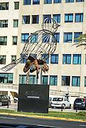 Cadiz, Andalusia, Spain steel bird statue