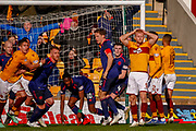 Curtis Main of Motherwell knowing he should have scored during the Ladbrokes Scottish Premiership match between Motherwell and Heart of Midlothian at Fir Park, Motherwell, Scotland on 17 February 2019.